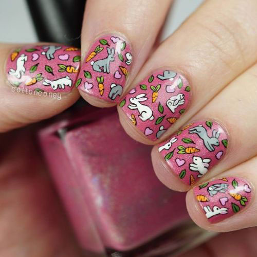 Cute-Easy-Easter-Bunny-Nails-Art-Designs-2021-13