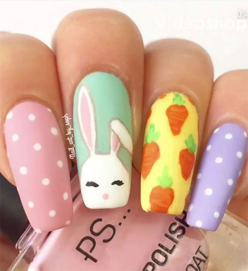 Cute-Easy-Easter-Bunny-Nails-Art-Designs-2021-15