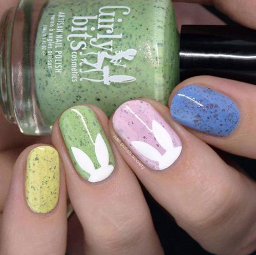Cute-Easy-Easter-Bunny-Nails-Art-Designs-2021-17
