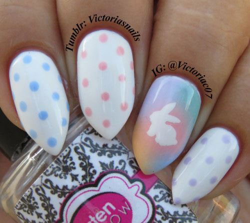 Cute-Easy-Easter-Bunny-Nails-Art-Designs-2021-5