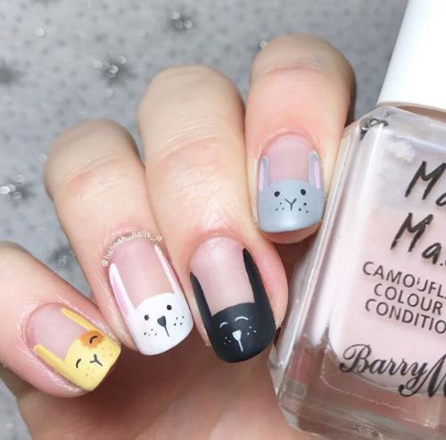 Cute-Easy-Easter-Bunny-Nails-Art-Designs-2021-6