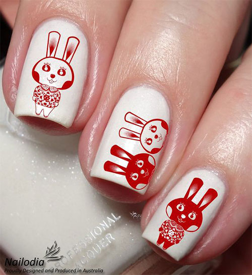 Cute-Easy-Easter-Bunny-Nails-Art-Designs-2021-8