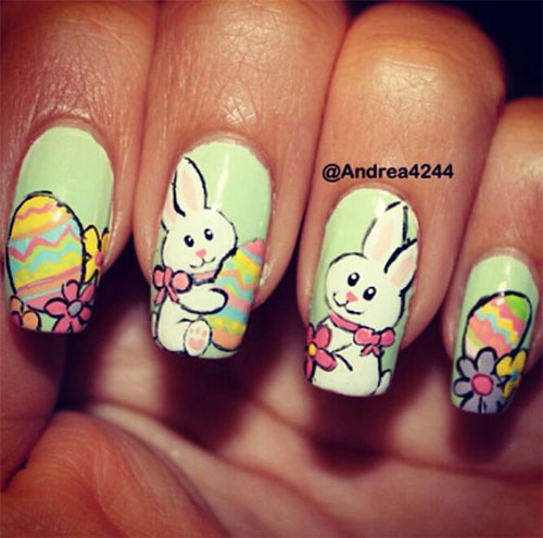 Cute-Easy-Easter-Bunny-Nails-Art-Designs-2021-9