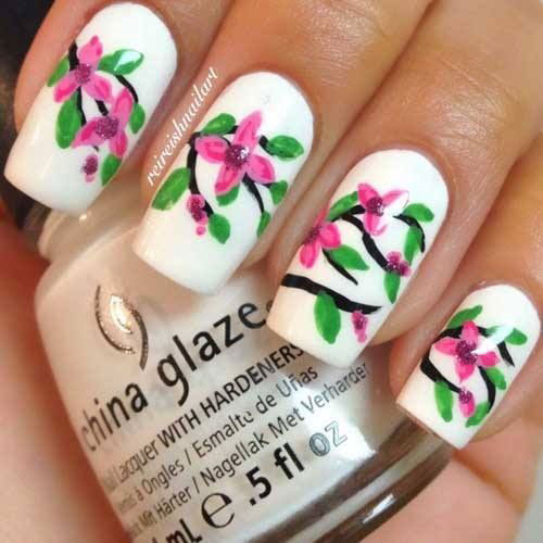 Best-Spring-Floral-Nails-Art-Ideas-2021-March-Spring-Nails-1
