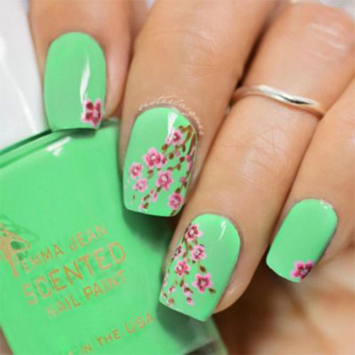 Best-Spring-Floral-Nails-Art-Ideas-2021-March-Spring-Nails-10