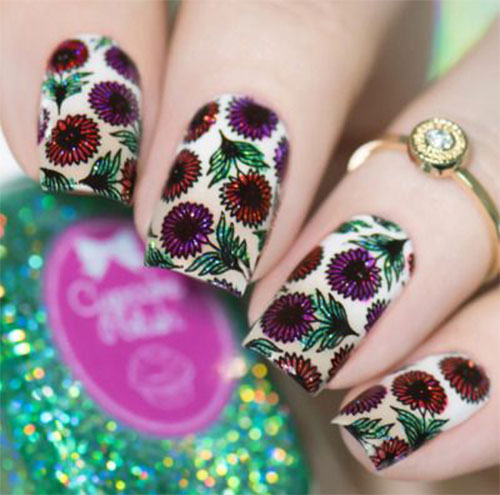 Best-Spring-Floral-Nails-Art-Ideas-2021-March-Spring-Nails-2