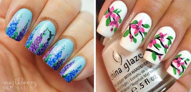 Best Spring Floral Nails Art Ideas 2021| March Spring Nails