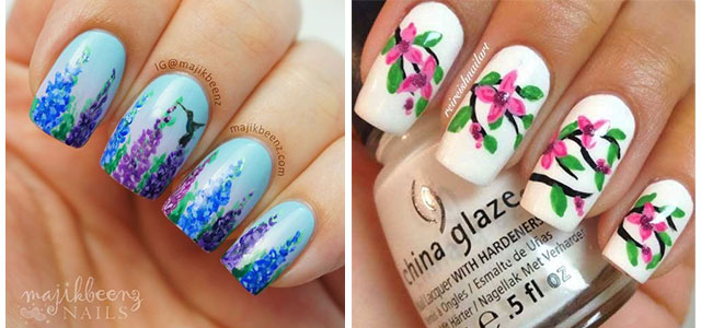 Best-Spring-Floral-Nails-Art-Ideas-2021-March-Spring-Nails-F