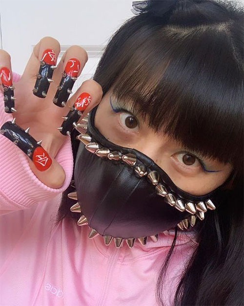 Matching-Nail-Art-With-Face-Mask-Is-New-Coolest-Trend-2021-14