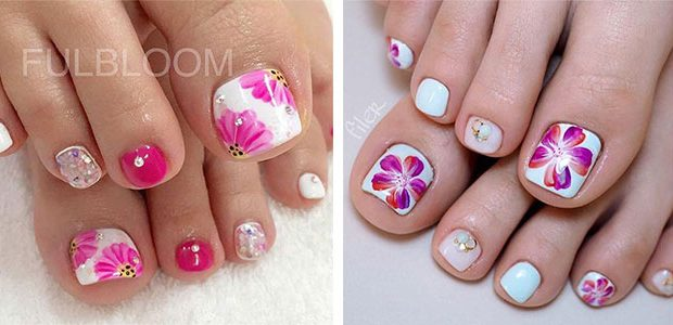 Spring Toe Nails Art Designs & Ideas 2021