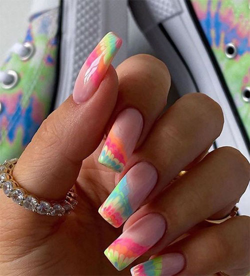 Tie-Dye-Nail-Art-Designs-Ideas-2021-Nail-Trends-11