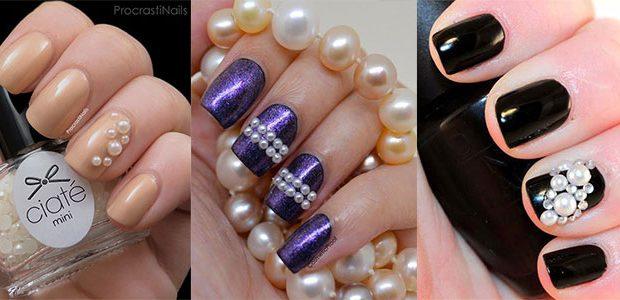 Amazing Pearls Nail Art Designs & Ideas 2021