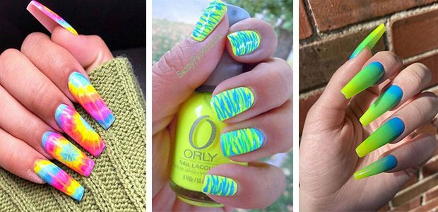 15 Neon Nail Art Designs To Try Out This Summer 2021