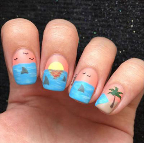 Amazing-Summer-Beach-Nail-Art-Designs-2021-7