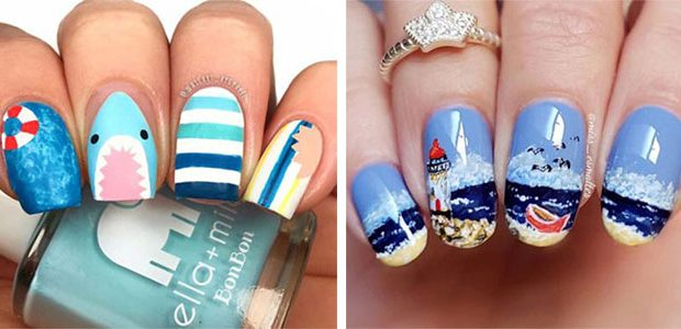 Amazing Summer Beach Nail Art Designs 2021