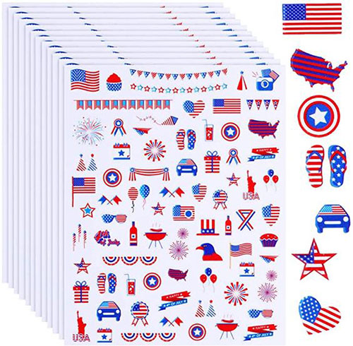 4th-of-July-Nail-Art-Stickers-Decals-2021-2