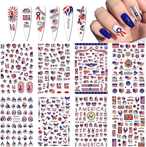 4th-of-July-Nail-Art-Stickers-Decals-2021-3