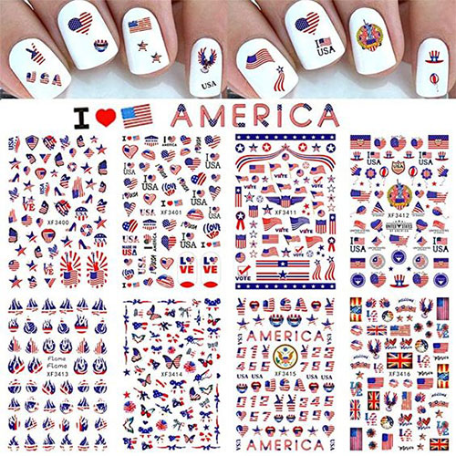 4th-of-July-Nail-Art-Stickers-Decals-2021-4