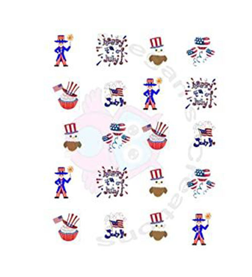 4th-of-July-Nail-Art-Stickers-Decals-2021-8
