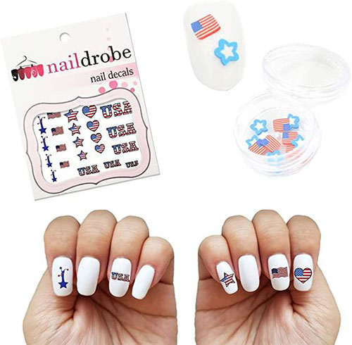 4th-of-July-Nail-Art-Stickers-Decals-2021-9