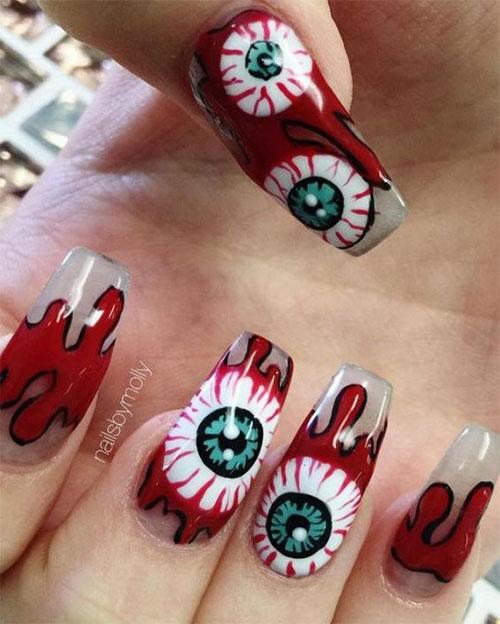 Black-White-Green-Red-Halloween-Nail-Art-2021-14