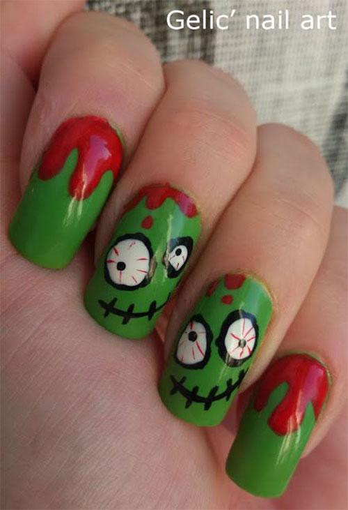 Black-White-Green-Red-Halloween-Nail-Art-2021-9