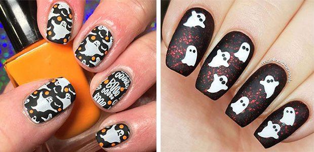 Halloween Ghost Nail Art Ideas 2021  Cute Halloween Nails