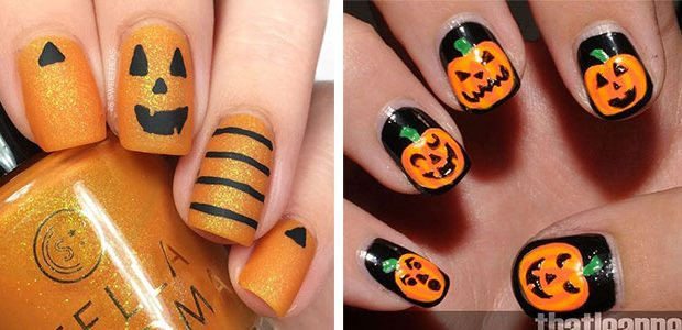 Halloween Jack-O-Lantern Nail Art 2021 | Halloween Pumpkin Nails