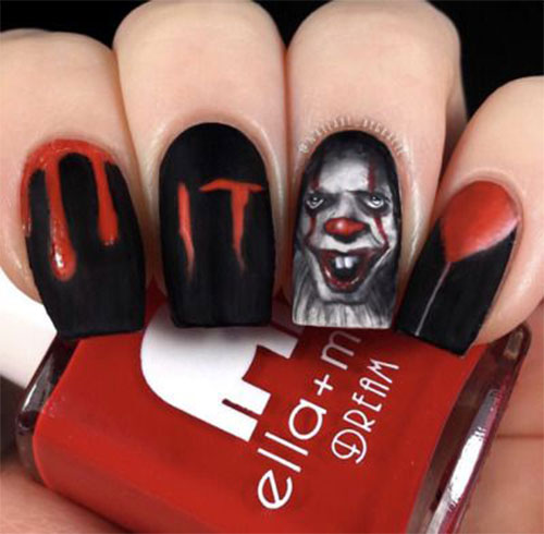 Halloween-Pennywise-Nails-2021-IT-Movie-Nail-Art-10
