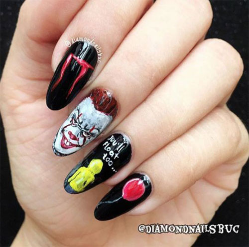 Halloween-Pennywise-Nails-2021-IT-Movie-Nail-Art-11