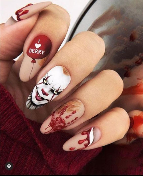 Halloween-Pennywise-Nails-2021-IT-Movie-Nail-Art-12