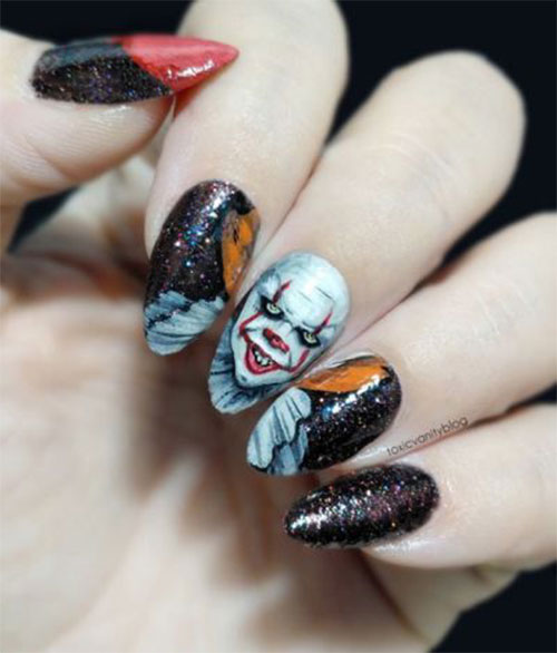 Halloween-Pennywise-Nails-2021-IT-Movie-Nail-Art-14