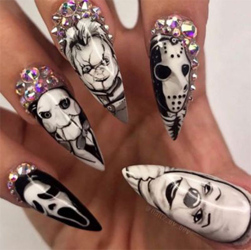 Halloween-Pennywise-Nails-2021-IT-Movie-Nail-Art-2