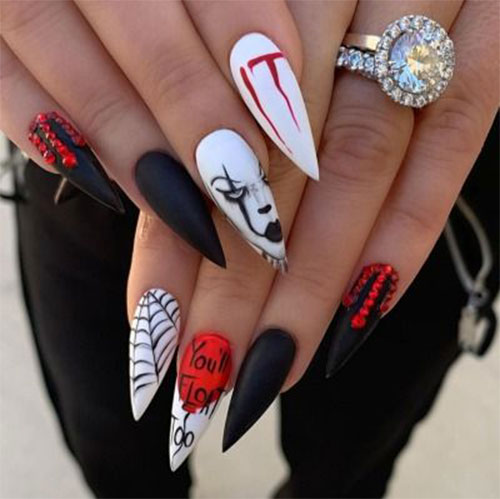 Halloween-Pennywise-Nails-2021-IT-Movie-Nail-Art-5