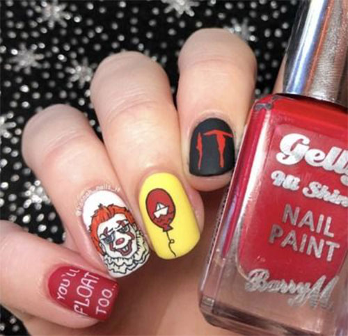 Halloween-Pennywise-Nails-2021-IT-Movie-Nail-Art-6