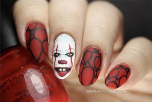 Halloween-Pennywise-Nails-2021-IT-Movie-Nail-Art-7