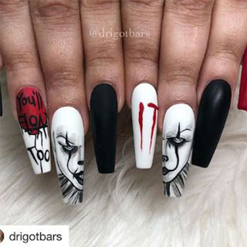 Halloween-Pennywise-Nails-2021-IT-Movie-Nail-Art-9