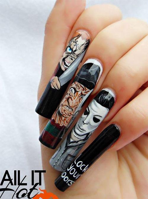 Michael-Myers-Halloween-Nail-Art-2021-Horror-Movie-Villain-Nail-Art-1