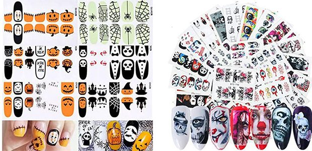 Spooky & Cute Halloween Nail Decals & Stickers 2021