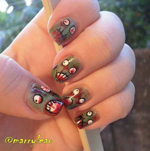 Zombie-Nail-Art-Designs-2021-The-Walking-Dead-Inspired-Nail-Art-8