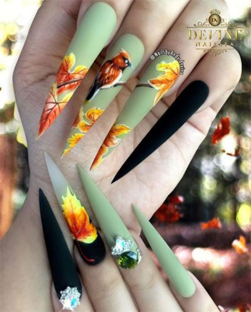 15-Trendy-Autumn-Acrylic-Nail-Art-2021-Pretty-Fall-Nails-9