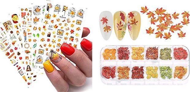 Cute Autumn Nail Art Stickers & Decals 2021