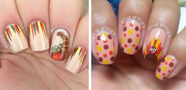 Easy Thanksgiving Nail Art For Beginners & Learners 2021