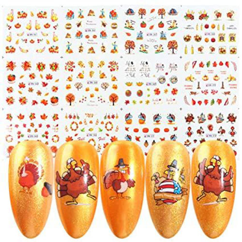 Thanksgiving-Nail-Art-Decals-Stickers-2021-3