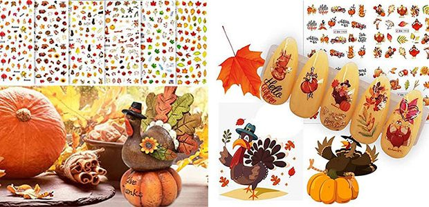 Thanksgiving Nail Art Decals & Stickers 2021